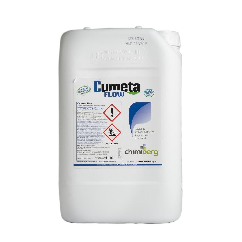 Cumeta Flow Chimiberg Fungicida Sistemico Metalaxil + Rame (Ridomil R liquido) 10L