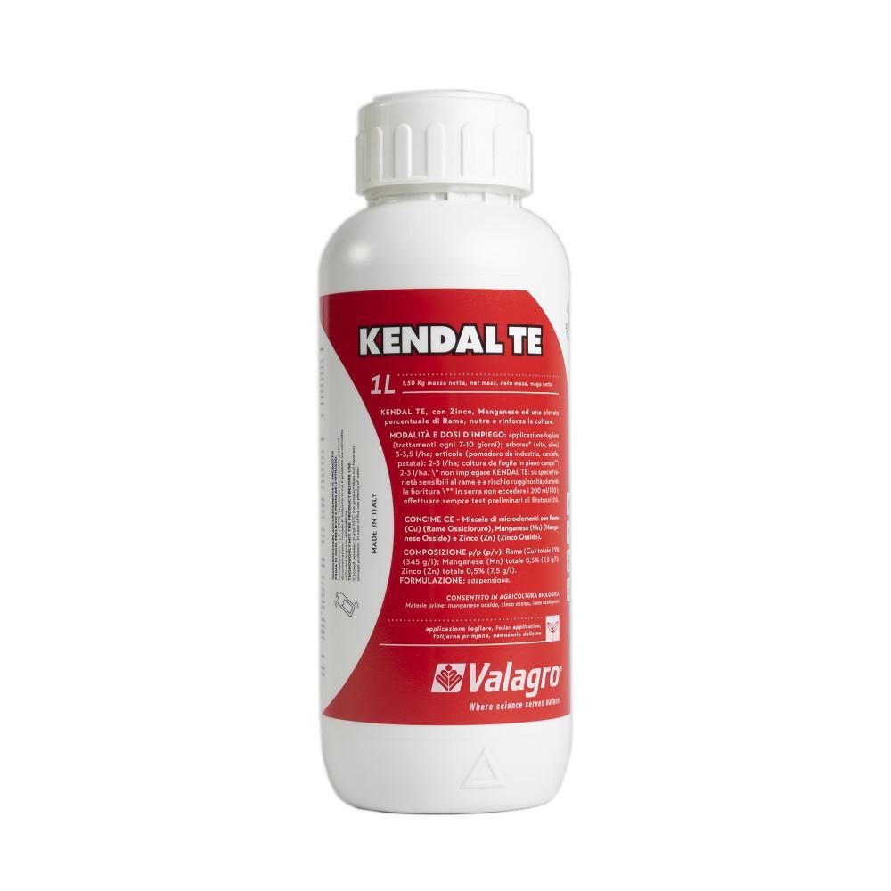 Kendal TE Valagro Concime Rame Manganese Zinco Biologico Biostimolante 1L