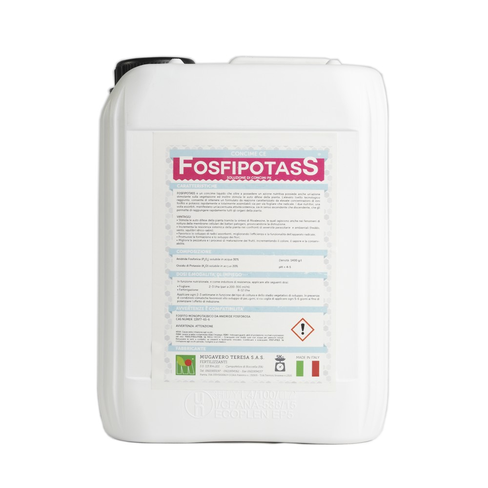 Fosfipotass Mugavero Concime Fosforo e Potassio PK 5Kg