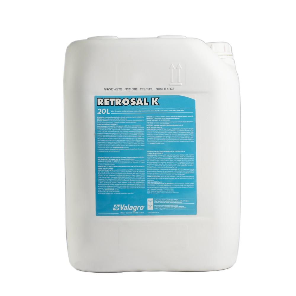 Retrosal K Valagro Concime Potassio Fertirrigazione 20L