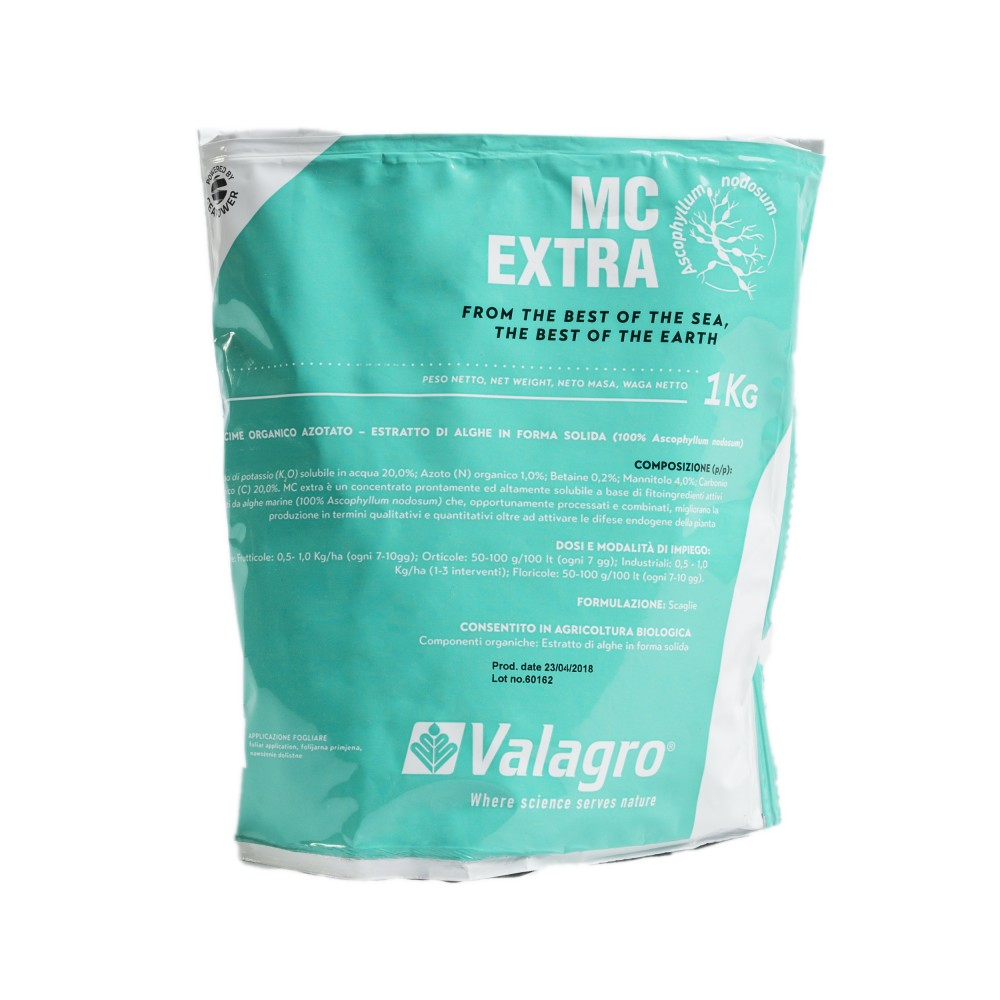 Mc Extra Valagro Concime Biologico Biostimolante Azoto Potassio 1Kg
