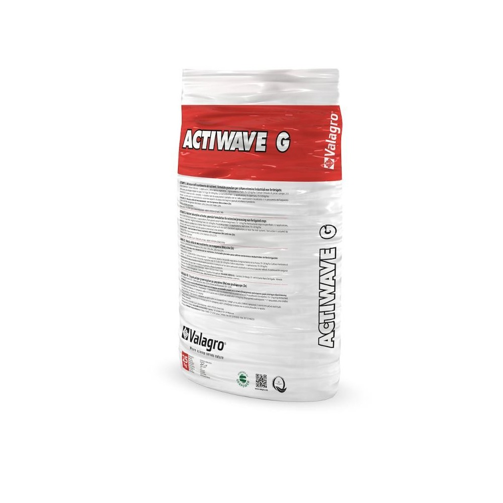 Actiwave G Valagro 12-5-10 NPK Concime Biostimolante Azoto Fosforo e Potassio 25Kg