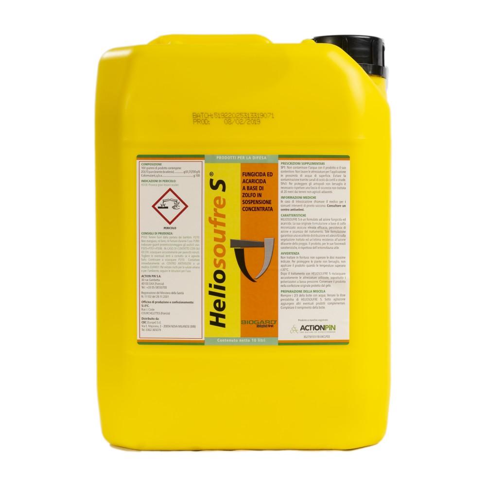 Heliosoufre S Biogard Fungicida Antioidico Zolfo puro 10L