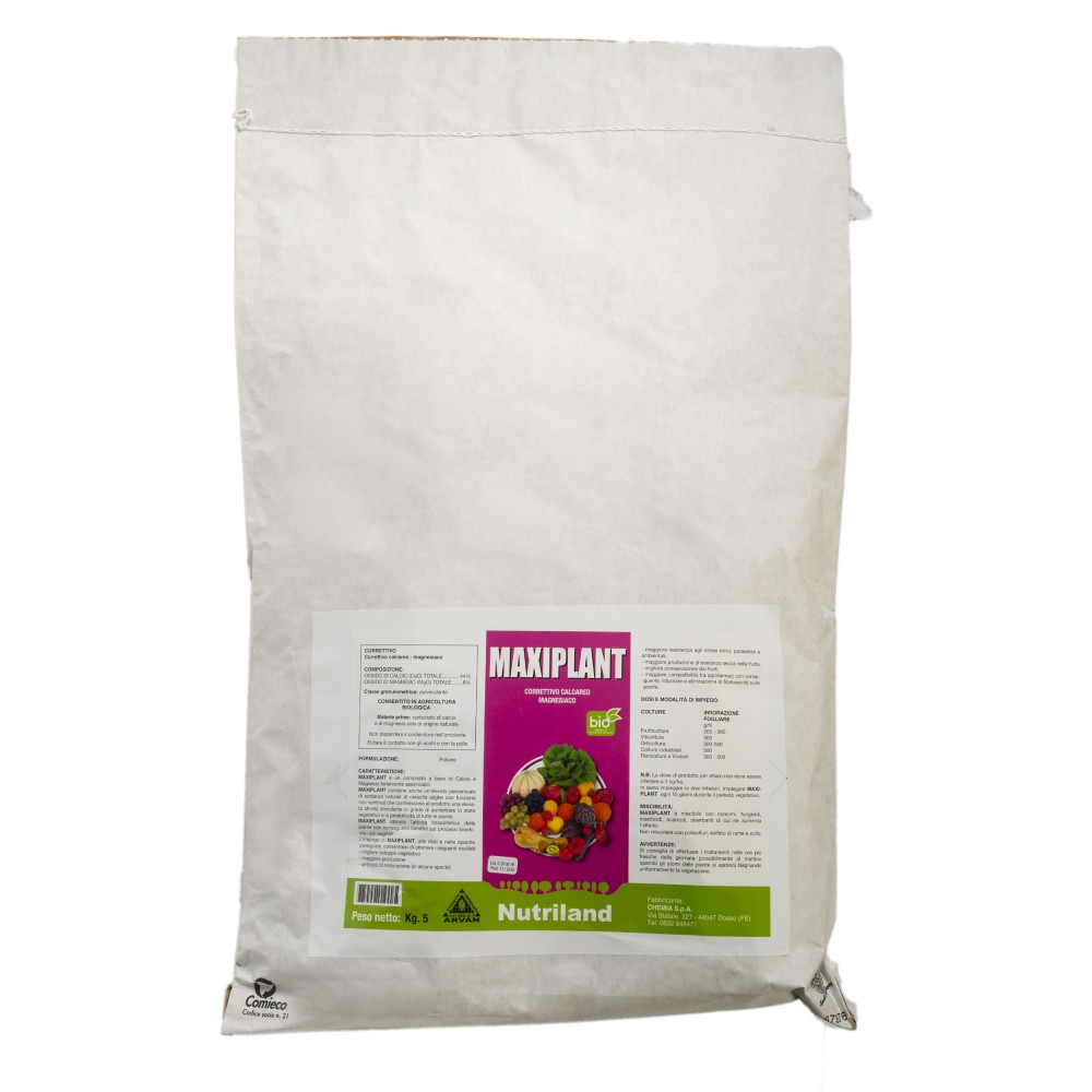 Maxiplant Nutriland Concime Calcio Magnesio agricoltura biologica 5Kg
