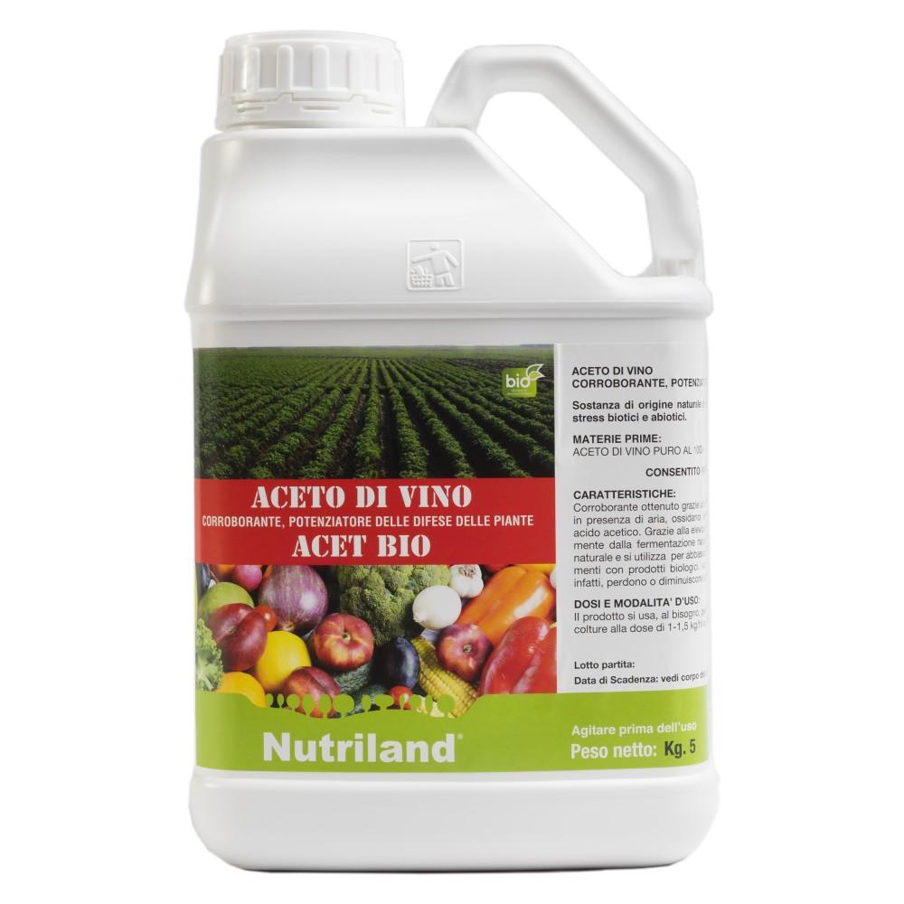 Acet Bio Nutriland Acidificante fogliare biologico aceto di vino 5Kg