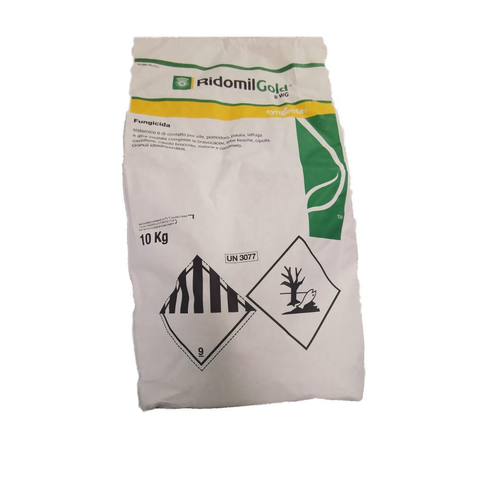 Ridomil Gold R WG Syngenta Fungicida Peronospora Metalaxil e Rame 10Kg