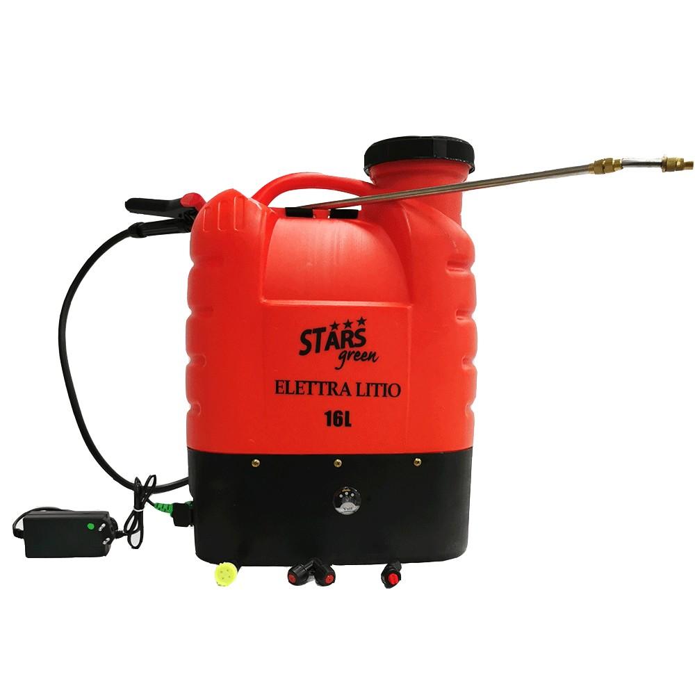 Elettra Litio Pompa irroratrice elettrica a batteria a zaino a spalla 16 litri