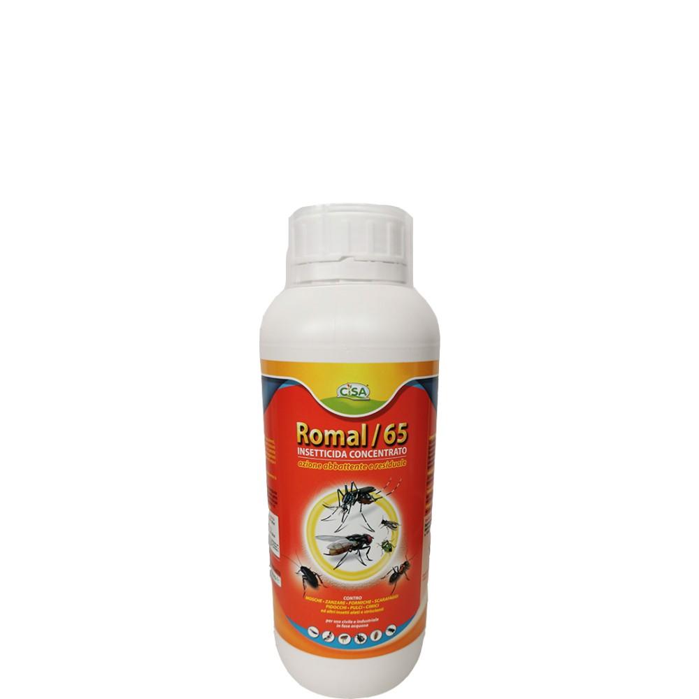 Romal 65 Insetticida concentrato Cipermetrina Tetrametrina Piperonil Butossido 1L