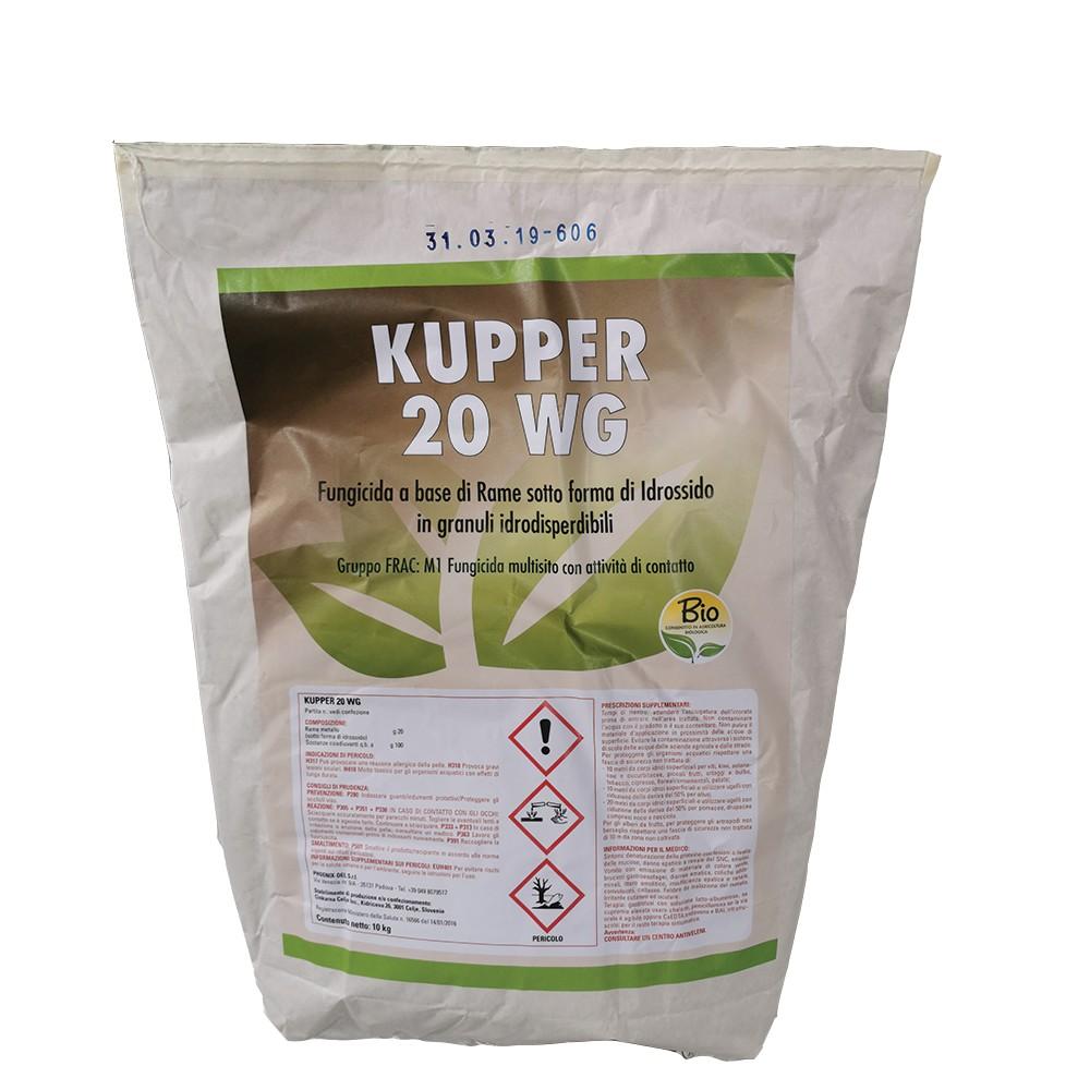 Kupper 20 WG Fungicida Idrossido di Rame 20% 10kg