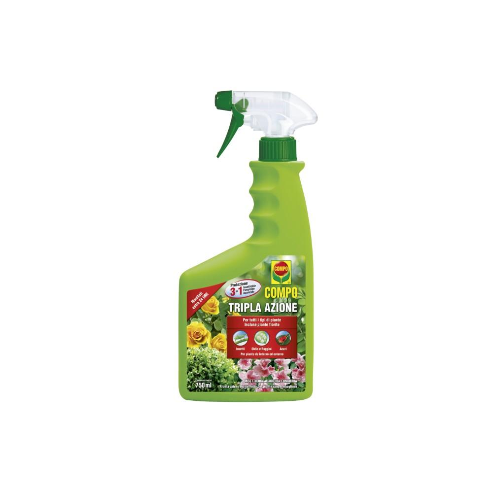 Compo Tripla Azione Insetticida Acaricida Fungicida Pronto Uso 1L